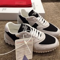 Valentino Man Fashion Casual Shoes Men Fashion Boots fashionable Casual leather Breathable Sneakers Running Shoes