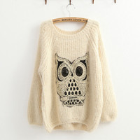 Twinking Owl Jumper Sweater-EMS from ClothLess