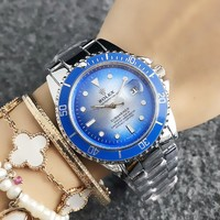 Blue ROLEX Wtch for Women +gift box