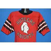 80s Rutgers Scarlet Knights College Striped Jersey t-shirt Small