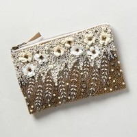 Floral Pearl Pouch by Anthropologie Neutral One Size Clutches