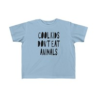 Tristin Original Cool Kids Don't Eat Animals Jersey Tee for Toddler