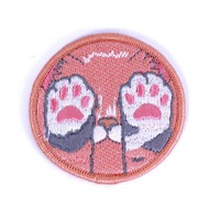 Pastel Kitten Paws Iron-On Patch