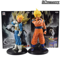 Anime Dragon Ball Z Son Goku Vegeta Resolution of Soldiers Vo1.1 PVC Action Figure Model Toy Christmas gift 19cm-21cm