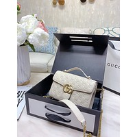 Fashion GUCCI Women Leather monnogam Handbag Crossbody bags Shouldbag Bumbag