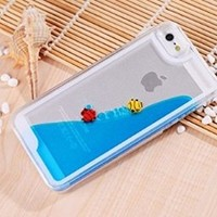 Cool and Refreshing Fish and Hourglass Desige Case Cover Shell of iphone 5 5S(Blue)
