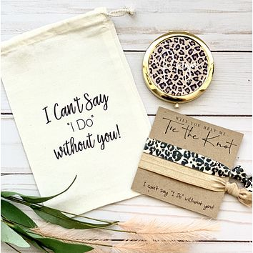 Fall Leopard Bridesmaid Proposal Gift Set