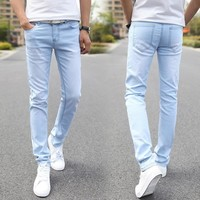 Designer Type Straight Jeans / Skinny Men Jeans