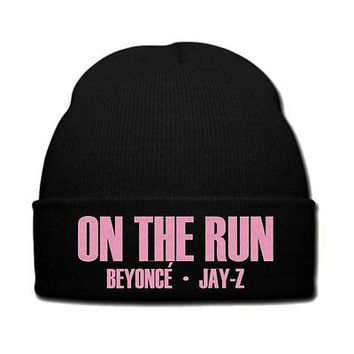 on the run beyonce jay z snapback on the run beyonce hat knit beanie snapback