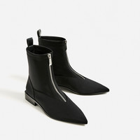 FLAT POINTED ANKLE BOOTS - NEW IN-TRF | ZARA United Kingdom