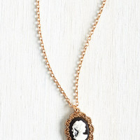 Vintage Inspired, 20s, French Antiquing Enthusiast Necklace by ModCloth