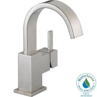 Delta Vero Single-Hole 1-Handle High-Arc Bathroom Faucet in Stainless-553LF-SS at The Home Depot