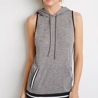 Contemporary Stripe-Trimmed Hooded Top