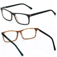 Direct Selling Brand Custom 2017 Trendy Clear Fashion Glasses Tortoise Patchwork Acetate Optical Frames with Plastic Lenses