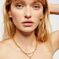 Free People Two Chain Magdalena Necklace