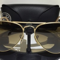 Cheap RAY-BAN RB3025 112/M2 MATTE GOLD / BROWN POLARIZED SUNGLASSES-W/CASE 58-14-135 outlet