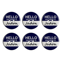 Jadon Hello My Name Is Plastic Resin Button Set of 6