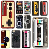 Soft Silicon Back Case For iPhone 4 4S 5 5S SE 5C 6 6S 6Plus 6s Plus Ultra Thin Vintage Art Phone Case Audiotape Camera Painting