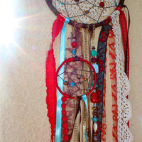 Red Handmade Dream Catcher