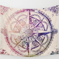 Indian Mandala Tapestry Hippie Hippy Wall Hanging Throw Bedspread Dorm Tapestry Decorative Wall Hanging , Picnic Beach Sheet Coverlet 13220