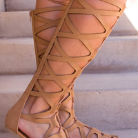 Jemma Gladiator Sandals - Tan