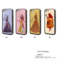 Disney princess  iPhone 5C Case Beauty and the Beast iPhone 5 case iPhone 5S case, iPhone 4S Case, Samsung S3 S4  Case, Note 2 Note 3 - 11