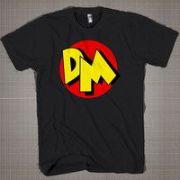 Danger Mouse Logo  Mens and Women T-Shirt Available Color Black And White