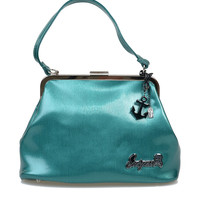 Teal Anchor Charm Betsy Purse