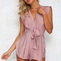 Easy Does It Playsuit Blush