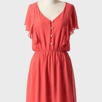 kaikoura dress in coral at ShopRuche.com