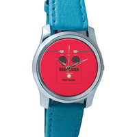 Red Lama Guitar Effects Pedal Wrist Watch