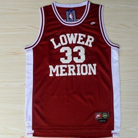 Kobe Bryant Lower Merion 33 High School 1996 Red NBA Basketball Jersey Kobe Bryant