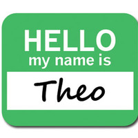 Theo Hello My Name Is Mouse Pad