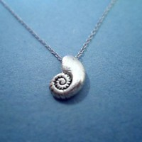 Little Mermaid, Ariel's Voice Shell, Vintage, Silver Plated, Necklace