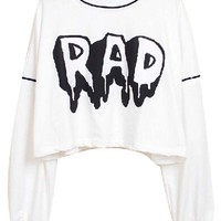 Chic Rad Cropped Sweatshirt - OASAP.com