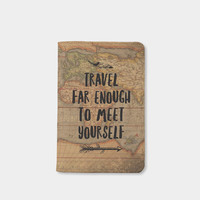 Leather Passport holder passport cover vintage map passport cover passport wallet passport case Christmas gift  by wanderlustcover shop