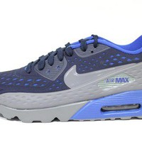 Tagre™ Nike Men's Air Max 90 Ultra BR Grey/Blue Running Shoes 725222 400