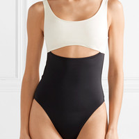 Solid and Striped - The Natasha cutout two-tone swimsuit