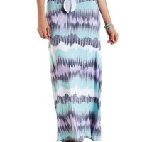 Tie-Dye Striped Maxi Skirt by Charlotte Russe