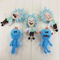 5-Style 23cm Rick and morty stuffed plush toy