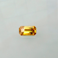Yellow Sapphire Flawless Emerald Cut for Engagement Ring 14K Gold Ring or 14K Gold Jewelry September Birthstone