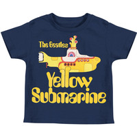 Beatles Boys' Deep Sea Childrens T-shirt Blue Rockabilia
