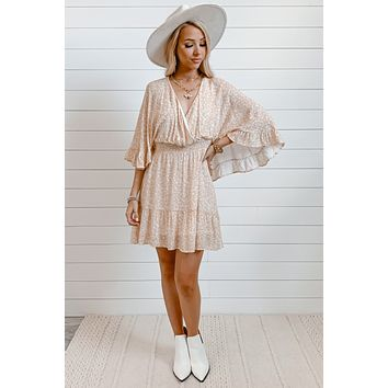 What's Meant To Happen Mini Dress | Nude