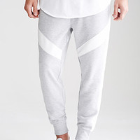 Textured-Paneled Drawstring Sweatpants