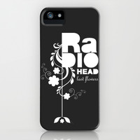 Radiohead song - Last flowers illustration white iPhone & iPod Case by LilaVert