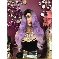"Purple Pastel Hair Lace Front Wig 18"" Amasa  0119 7"