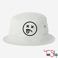 death smiley bucket hat