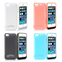 2600mAh Rechargeable Quick Charging Case Lithium Battery For iPhone 5/5S/5C USA