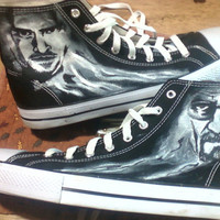 Breaking Bad Custom Canvas High top Shoes Walter White and Pinkman