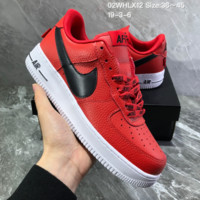 DCCK2 N1030 Nike Air Force 1 x Reigning Champ Low Casual Skate Shoes Red
